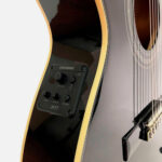 Guitarra electroacústica EACT12, color negro 3-01