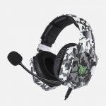 Headset Onikuma K8 RGB – Camuflado Blanco-01